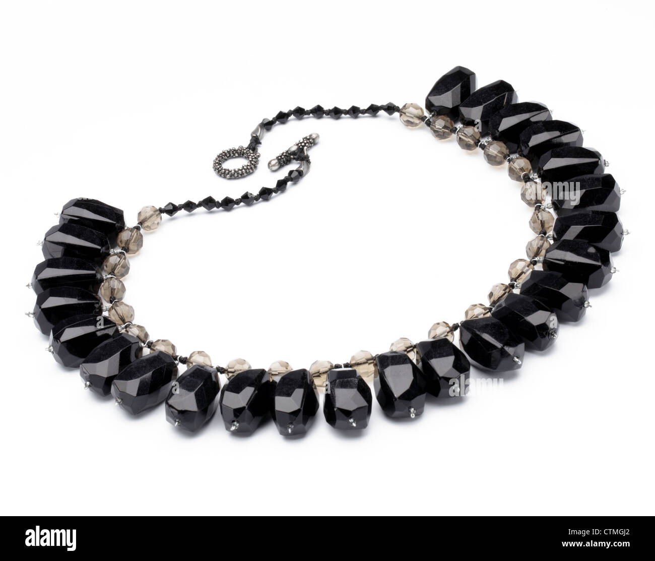 Costume jewelry. A necklace with large black stones. - Stock Image  sc 1 st  Alamy & Costume Jewelry Stock Photos u0026 Costume Jewelry Stock Images - Alamy