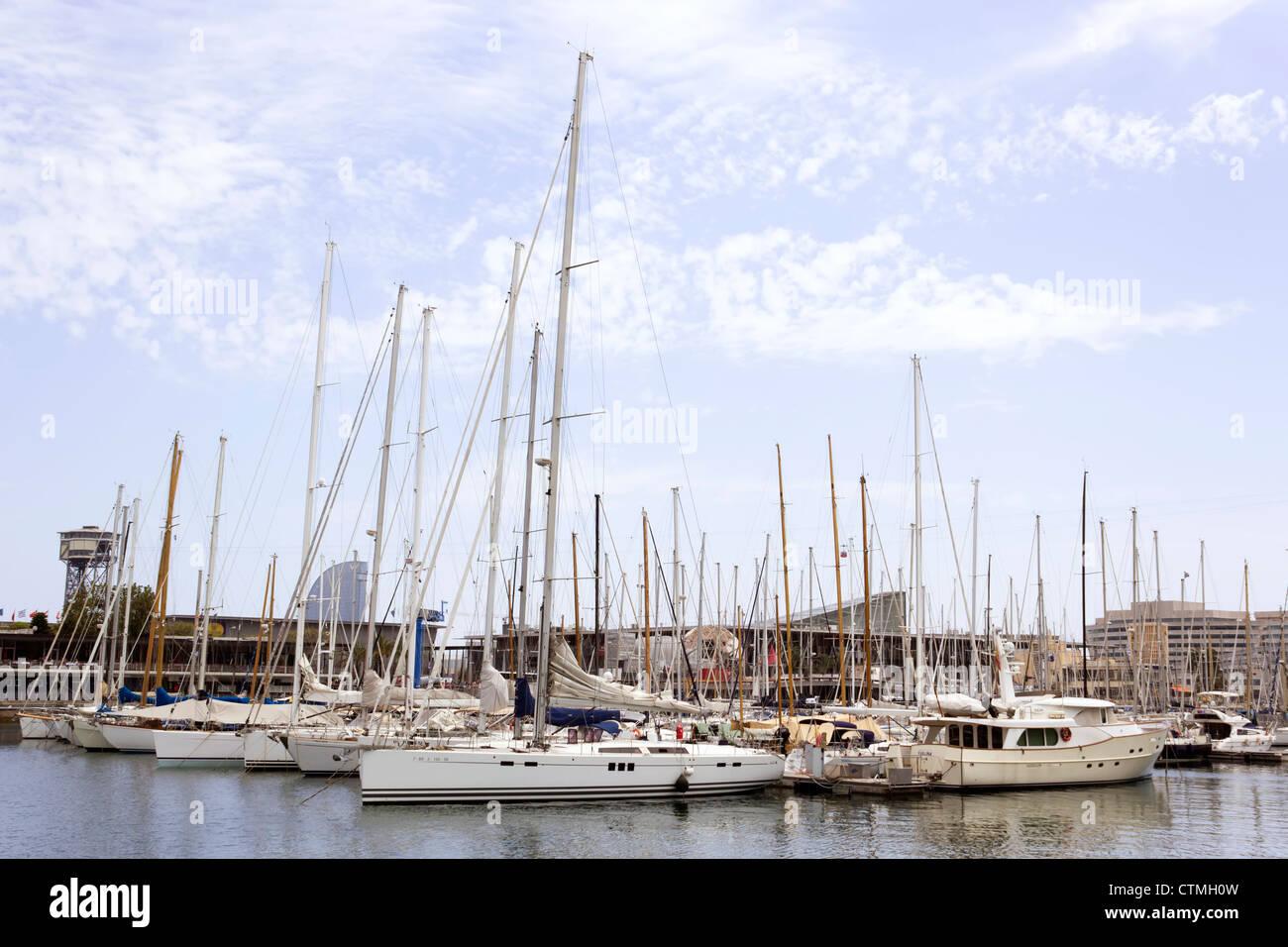 Barcelona, Spain. Port Vell. - Stock Image