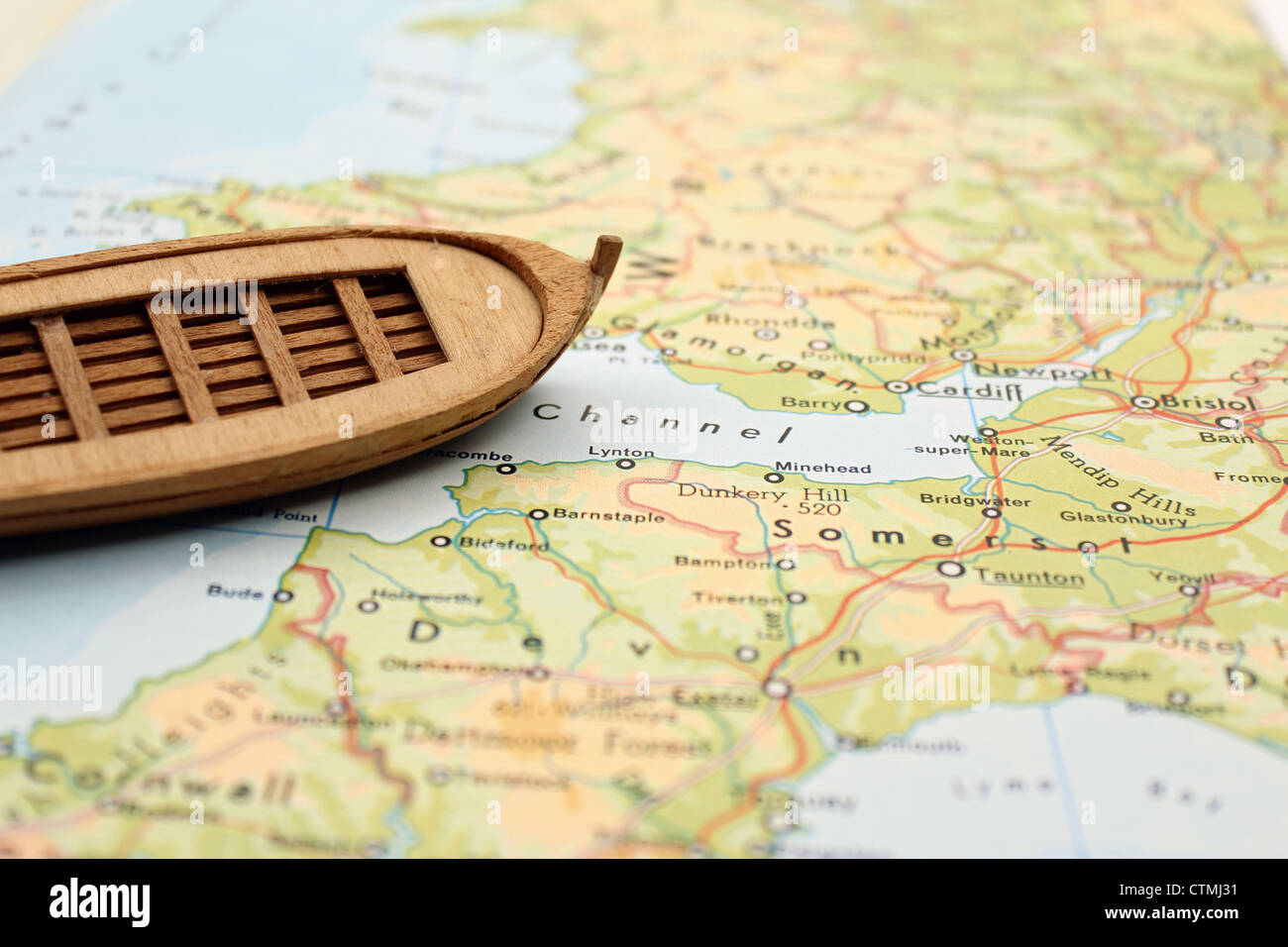 Rowboat in northern Europe Stock Image