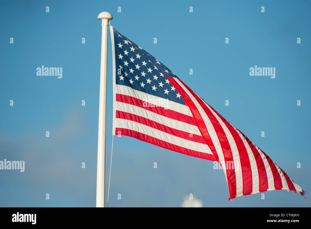 The stars and stripes flag banner old glory USA america american - Stock Image