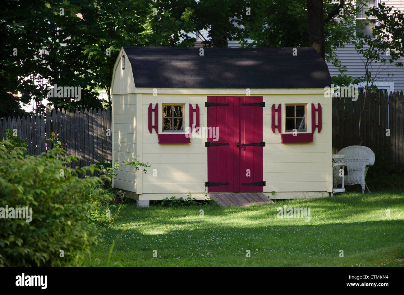 Cute Garden Shed, Portland Maine   Stock Image
