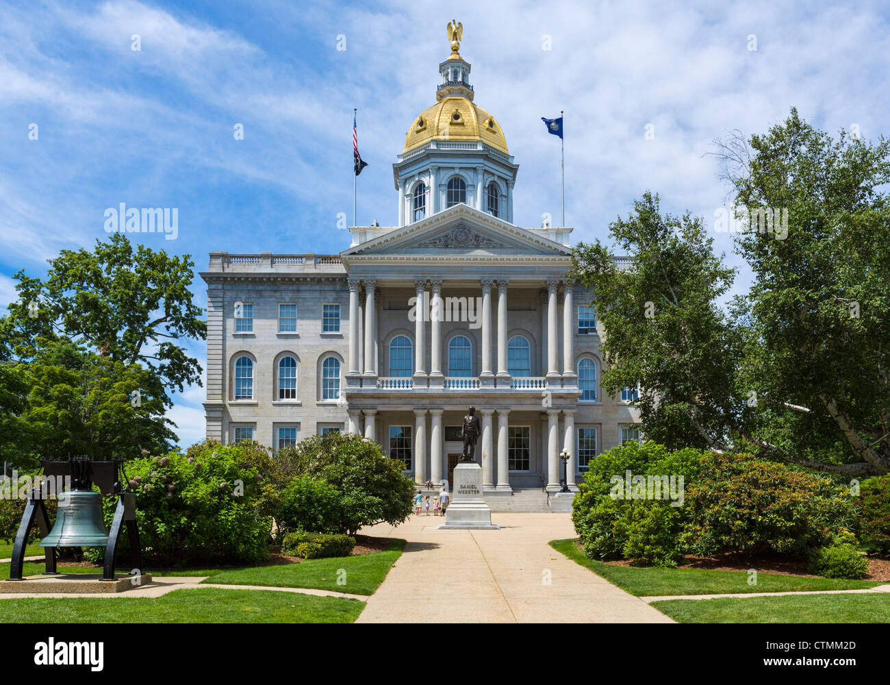 New Hampshire State House, Main Street, Concord, New Hampshire, USA - Stock Image