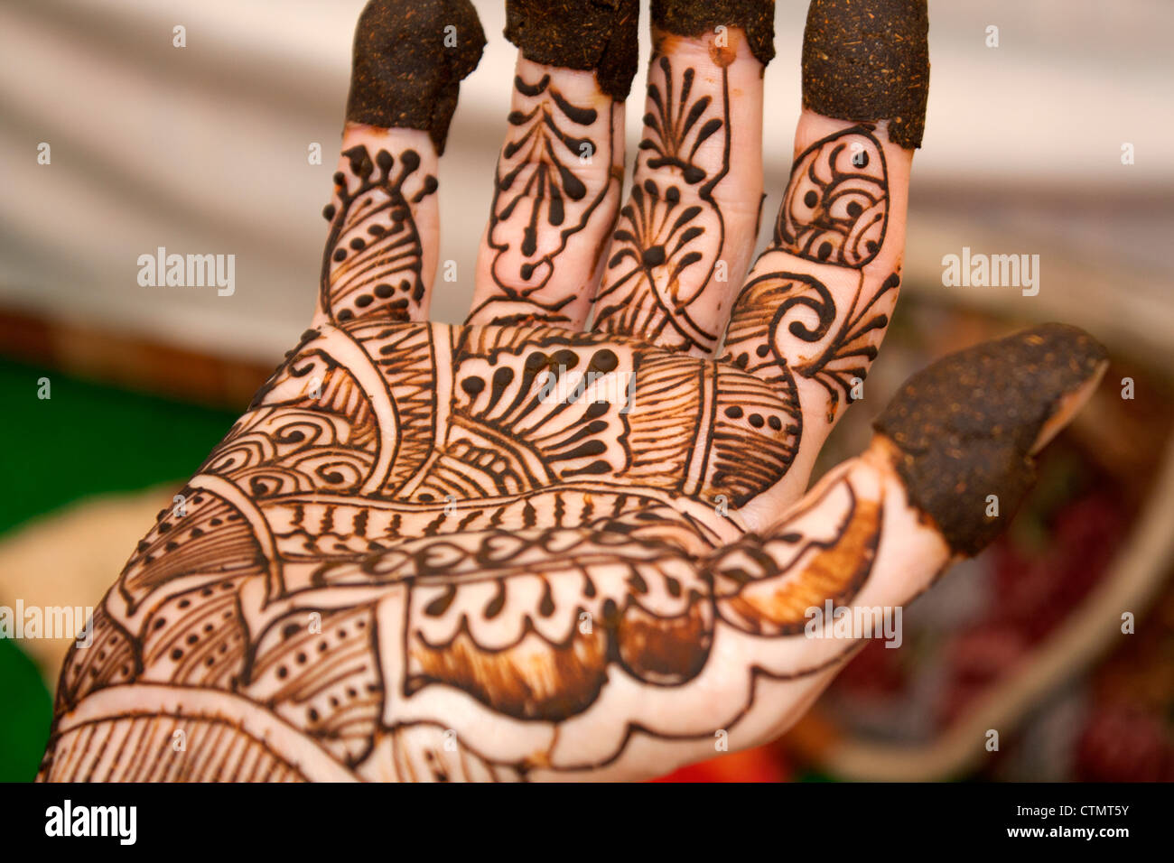 Group Mehndi Hands : Mehendi stock photos & images alamy