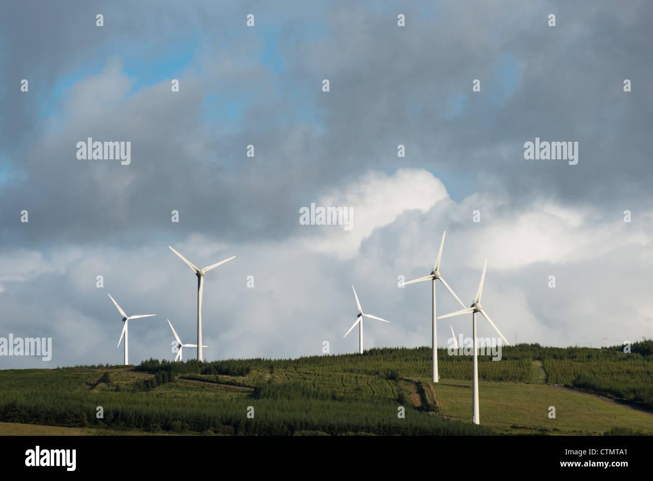 Wind Turbines in County Kerry, Republic of Ireland. - Stock Image