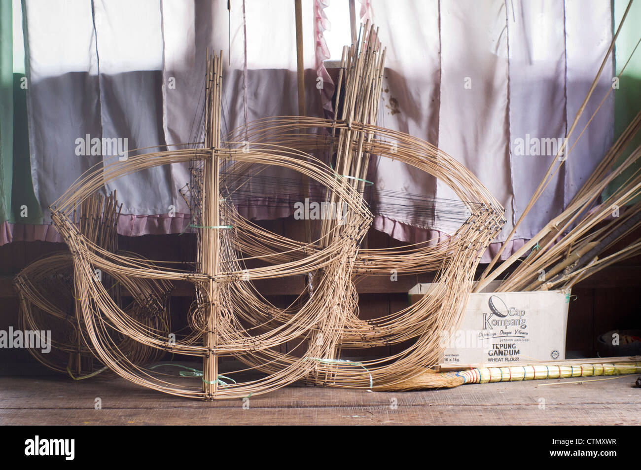 stack of frames of Wau. Wau is one of national symbols of malaysia ...