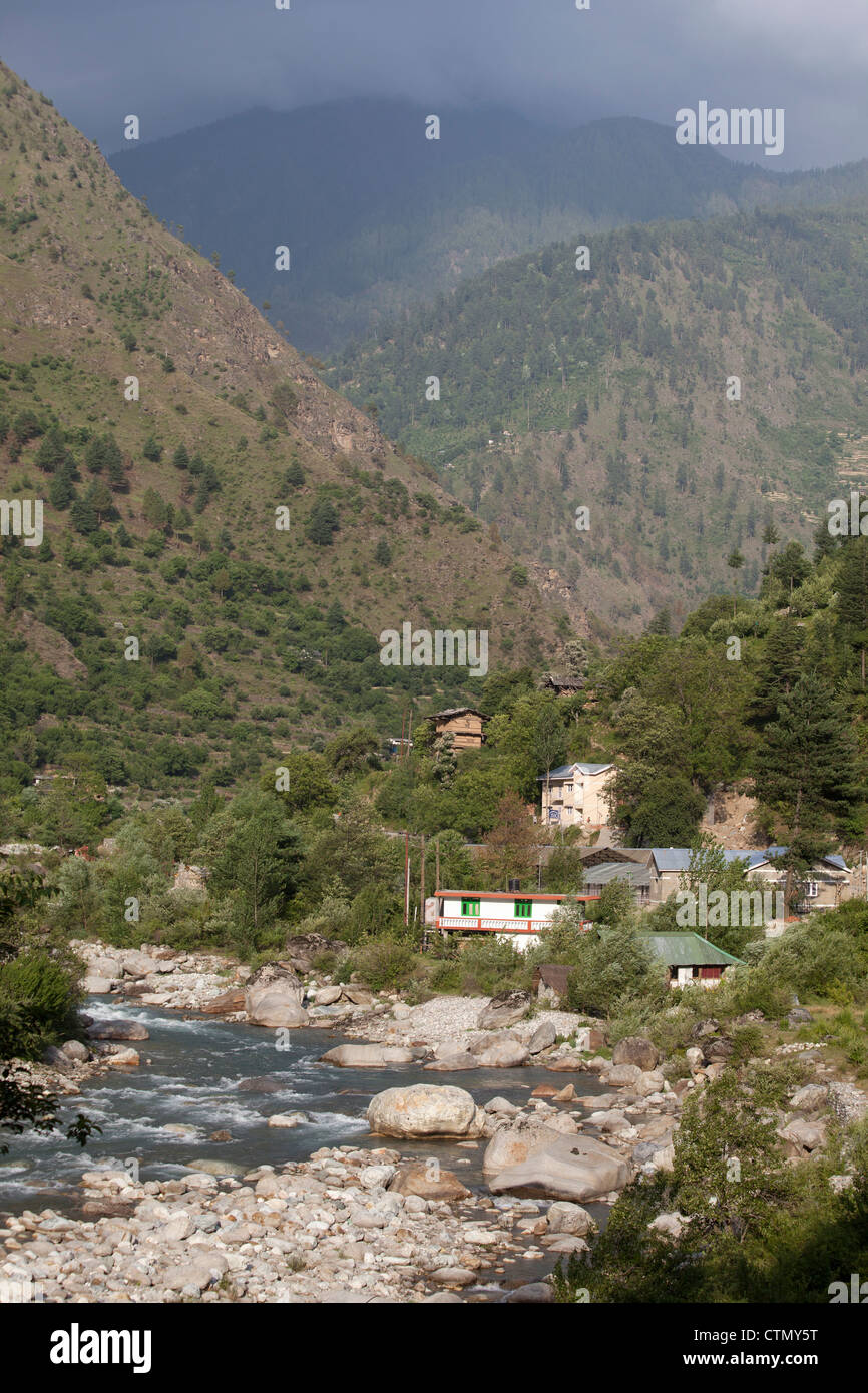 Tirthan Valley, Himachal Pradesh State, India - Stock Image