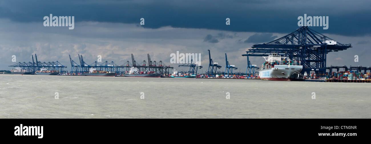 Port of Felixstowe Suffolk England UK - Stock Image