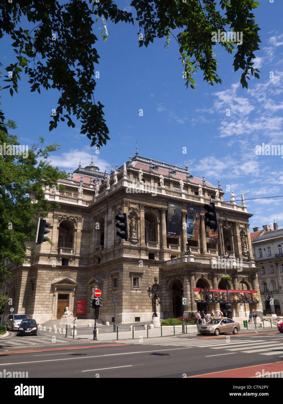 Hungarian State Opera House (Állami Operaház) exterior, Budapest, Hungary, Eastern Europe - Stock Image