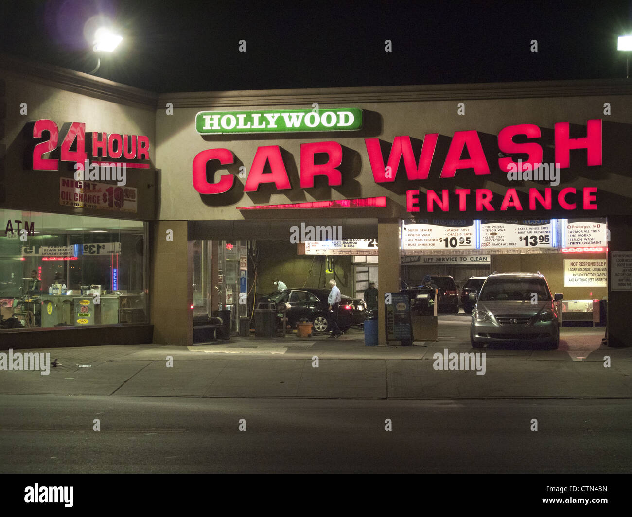 24 hour Hollywood Car Wash at Church and Coney Island Avenues in Brooklyn, NY. - Stock Image