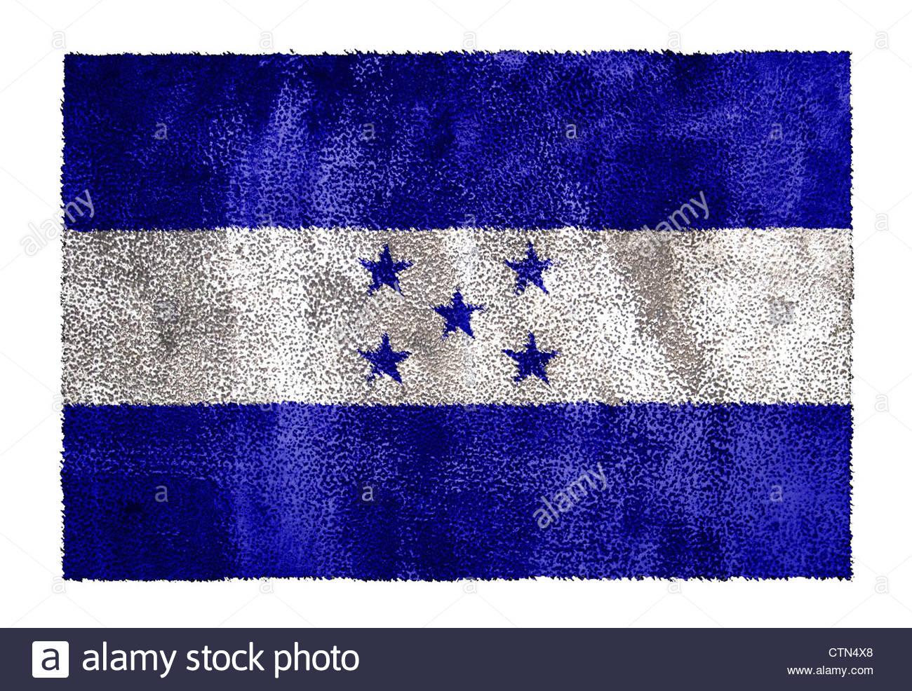 Honduras flag banner icon sign Stock Photo