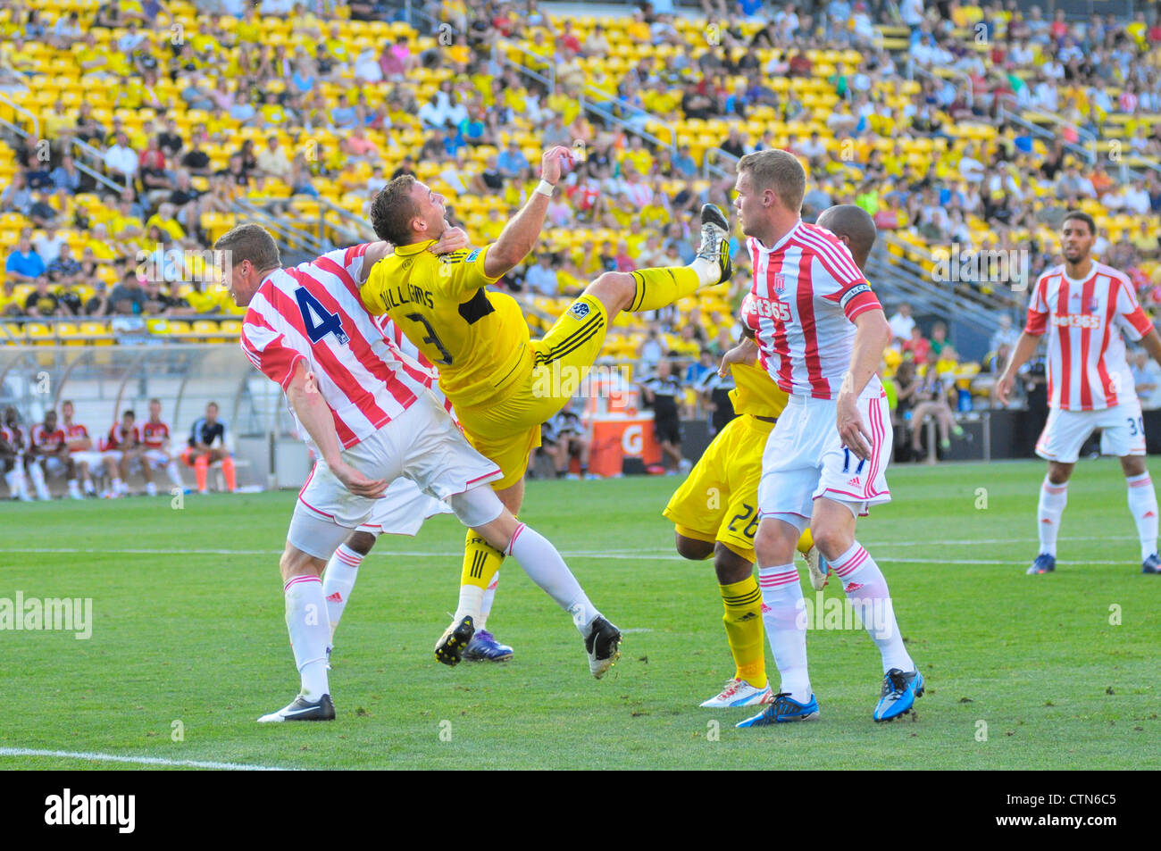Columbus Crew host Stoke City FC for an international friendly game at Columbus' Crew Stadium, Columbus, Ohio - Stock Image