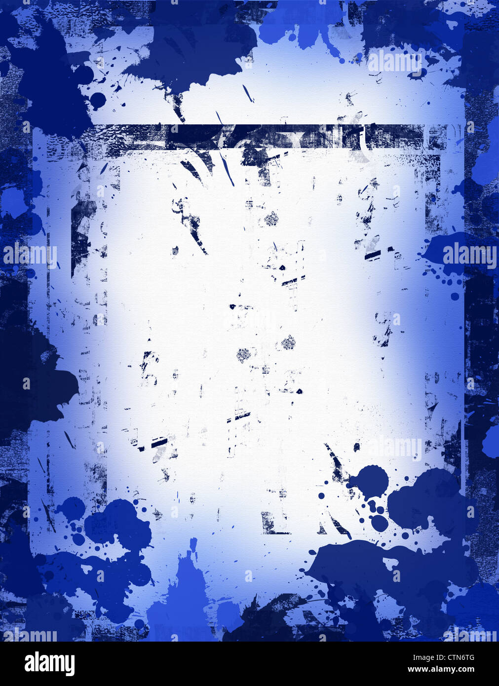 Blue ink grunge texture background Stock Photo