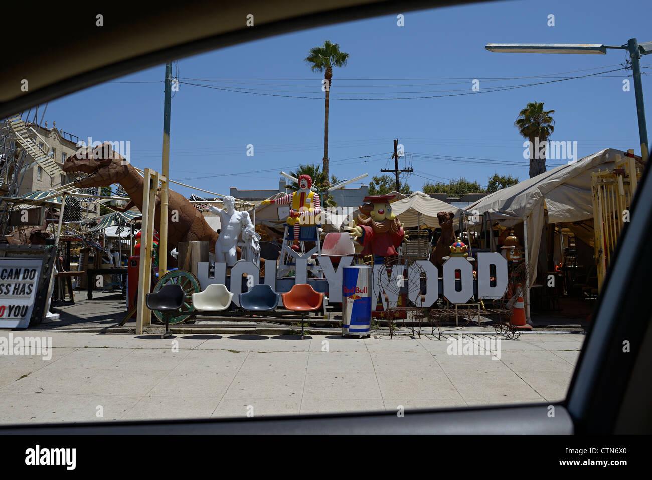 west hollywood ephemera store - Stock Image