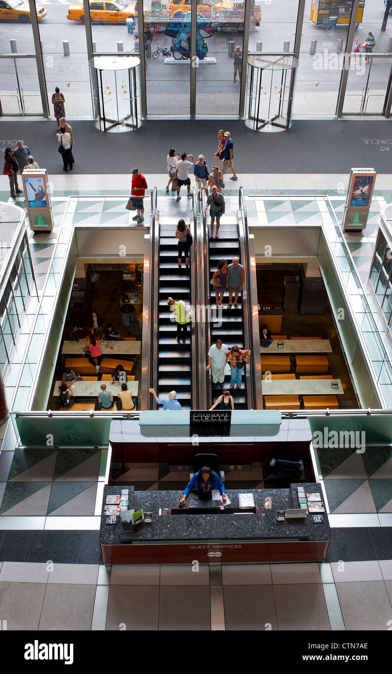 Time Warner Building Atrium NYC  2 Stock Photo
