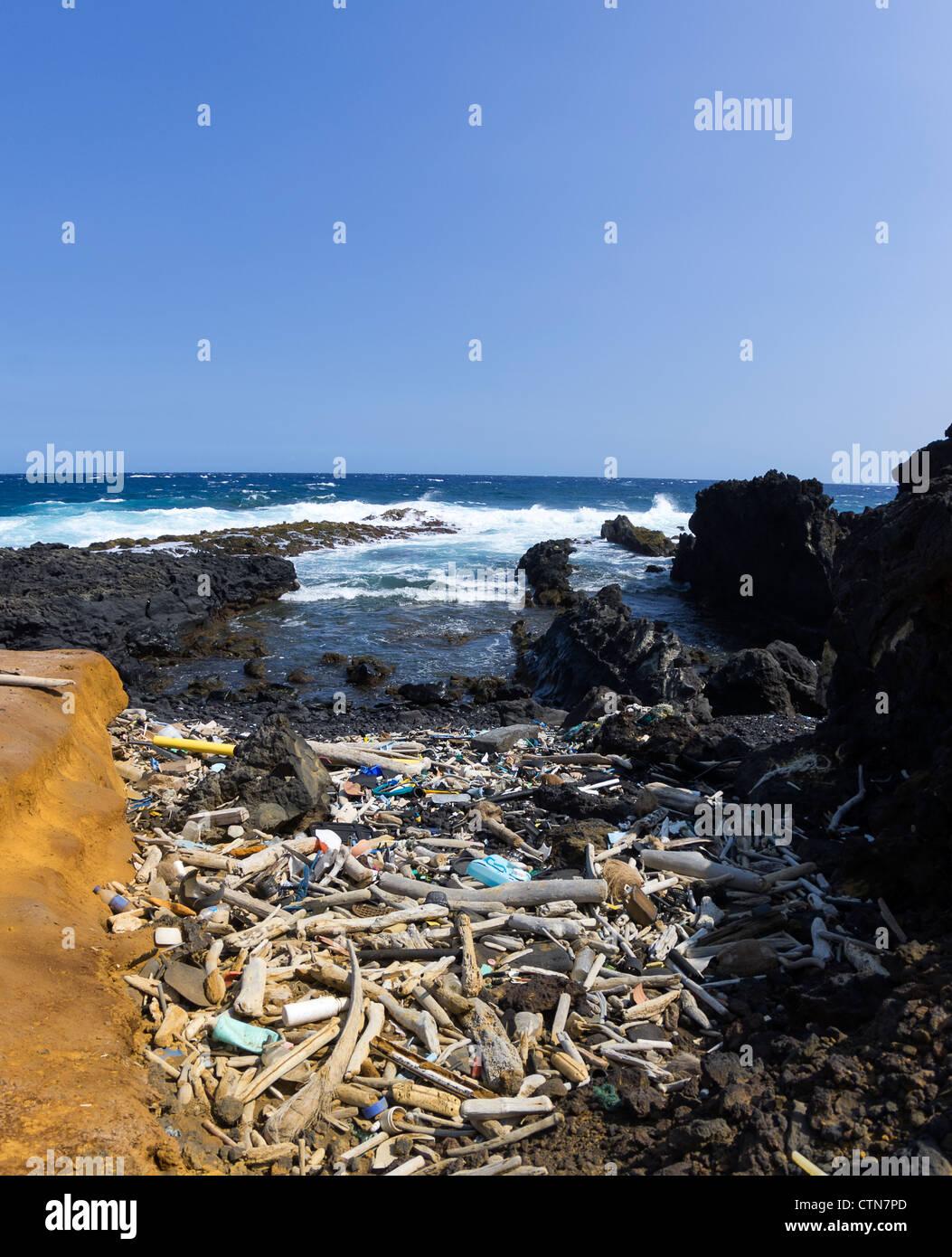 The great Pacific ocean junk yard, Big Island, HI - Stock Image