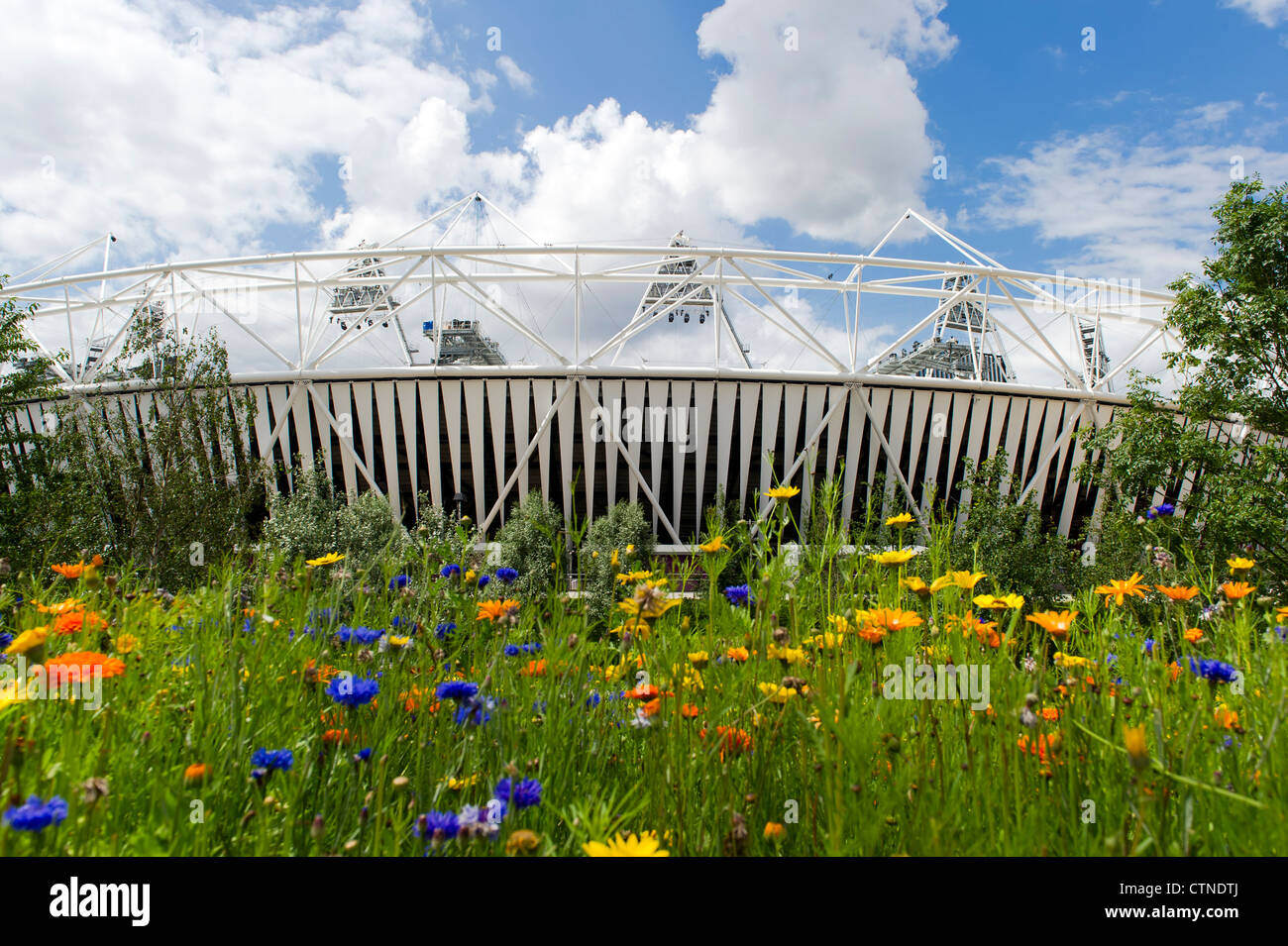 The Olympic Stadium in Stratford, London. - Stock Image