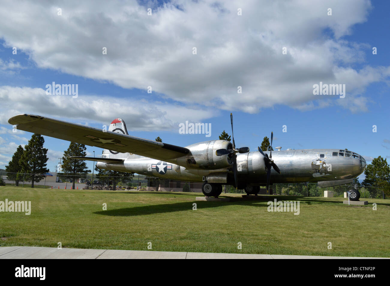 South Dakota Air and Space Museum at Ellsworth AFB in Rapid City - Stock Image