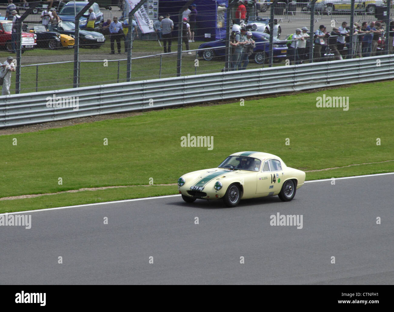 1961 Lotus Elite S2 at RAC Tourist Trophy for Historic Cars (pre-63 GT) Silverstone Classic July 22 2012 - Stock Image
