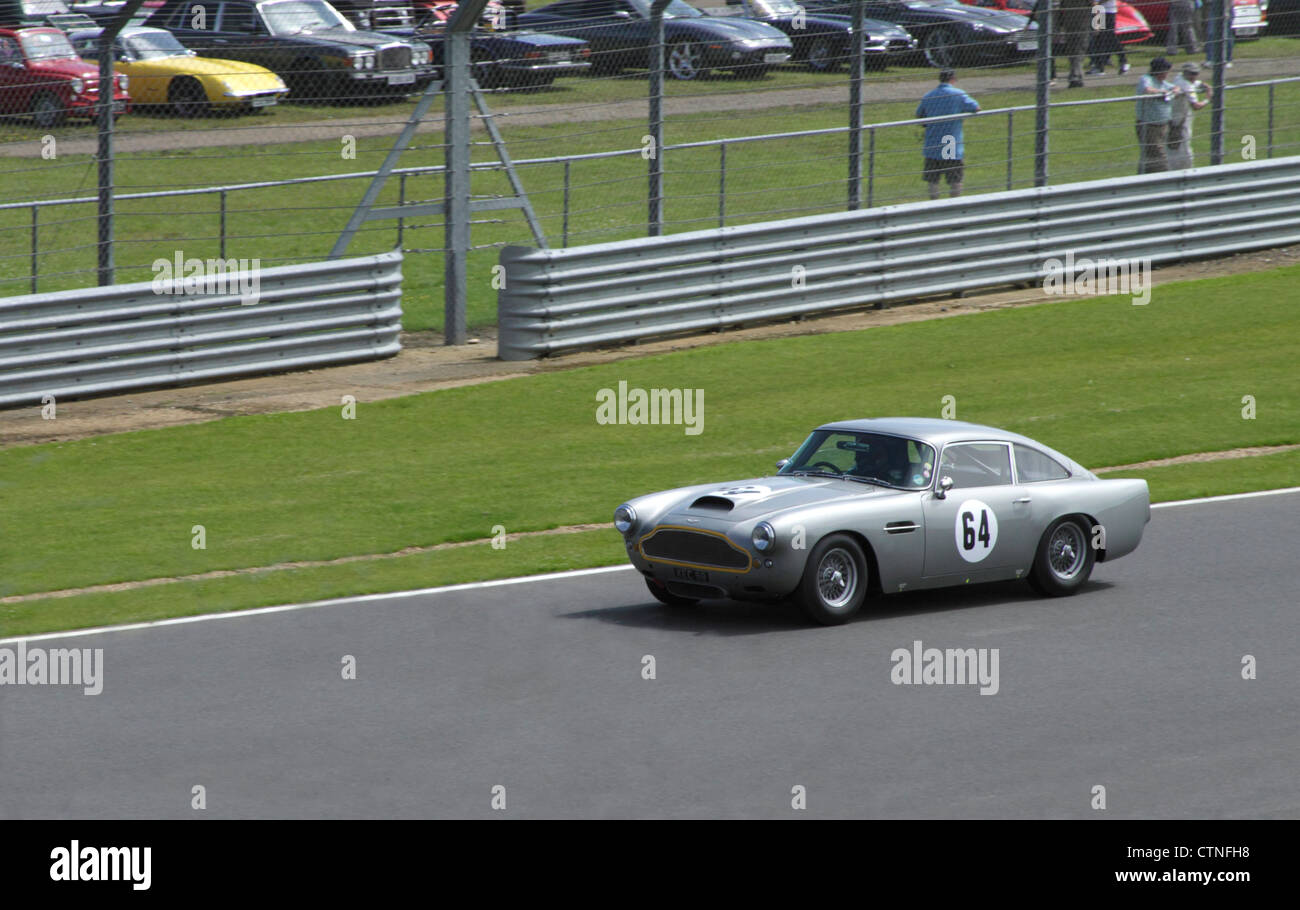 Aston Martin DB4 at  RAC Tourist Trophy for Historic Cars (pre-63 GT) Silverstone Classic July 22 2012 - Stock Image
