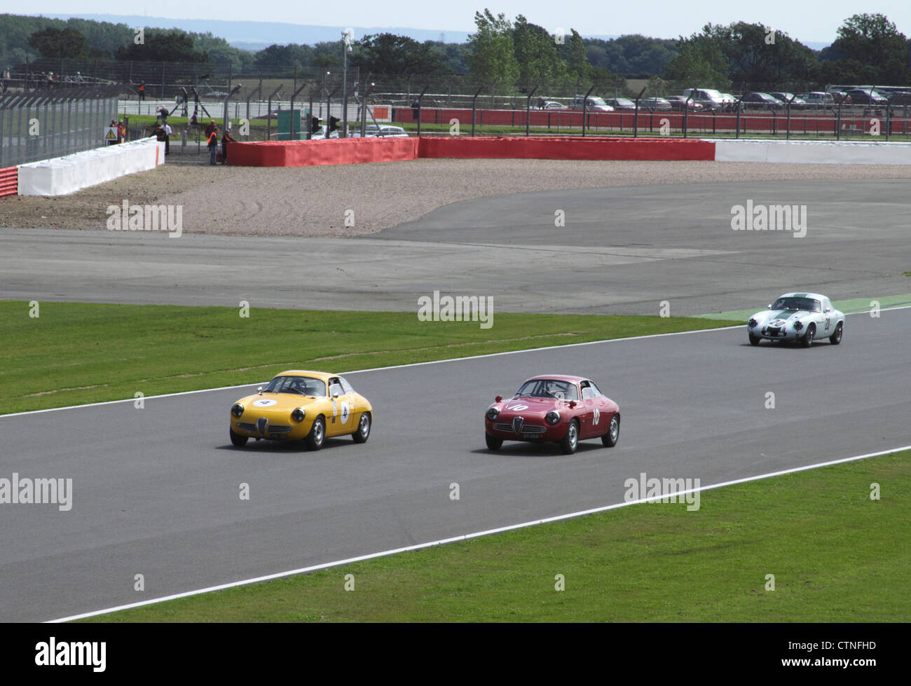 Race at RAC Tourist Trophy for Historic Cars (pre-63 GT) Silverstone Classic July 22 2012 - Stock Image
