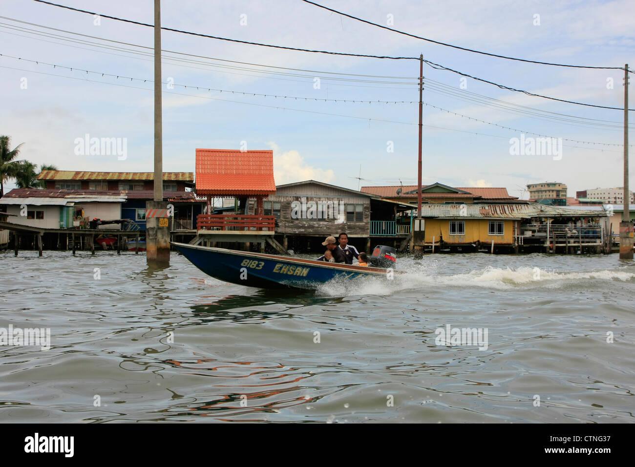 Kampong Ayer, Bandar Seri Begawan, Brunei, Southeast Asia - Stock Image