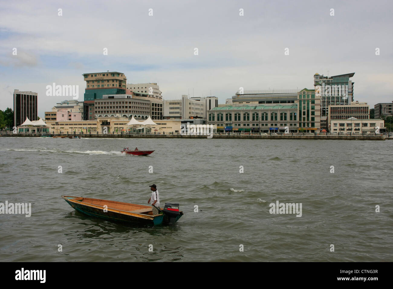 Capital skyline, Bandar Seri Begawan, Brunei, Southeast Asia - Stock Image