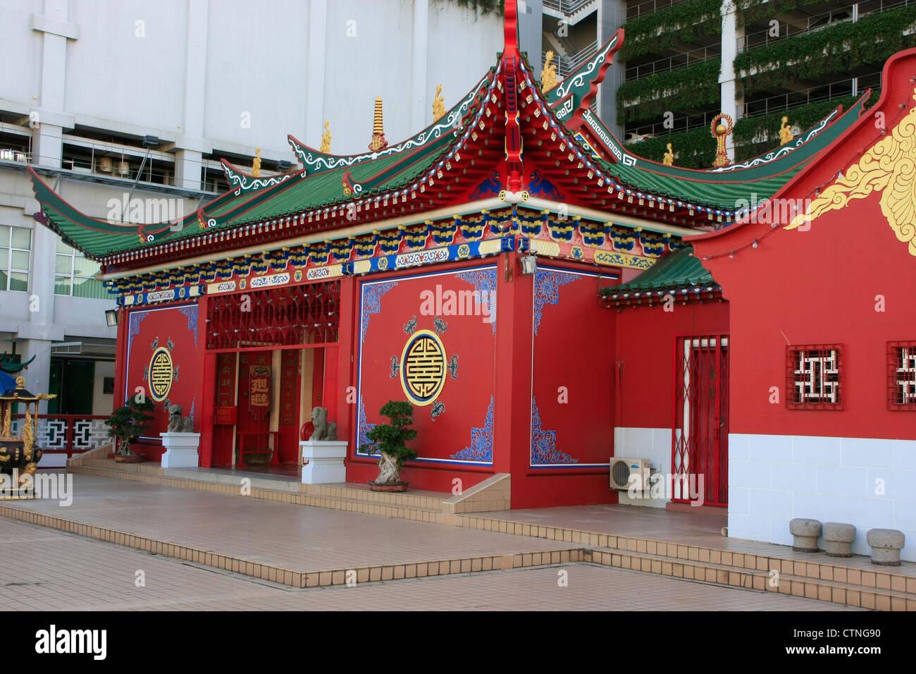Chinese buddhist temple, Bandar Seri Begawan, Brunei, Southeast Asia - Stock Image