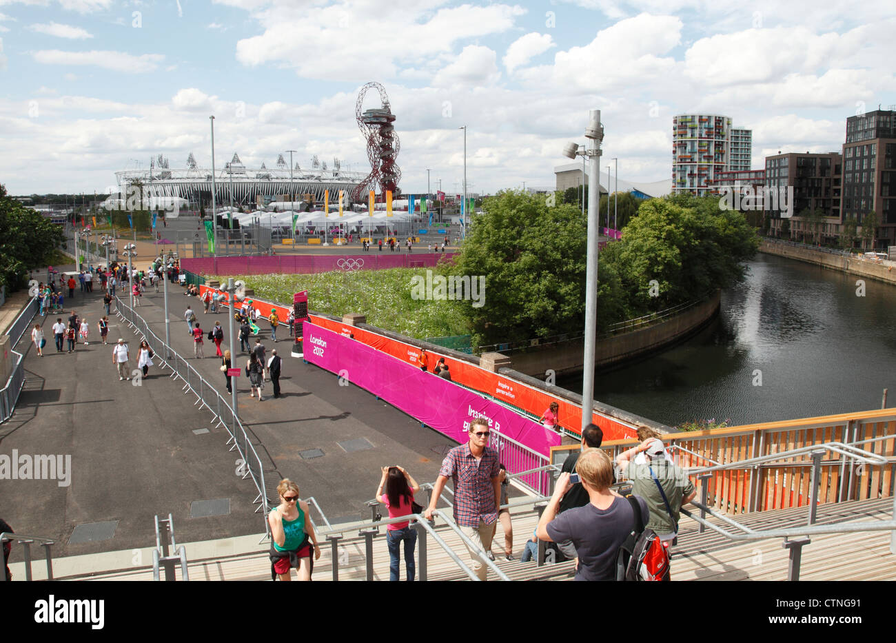 The London 2012 Olympic Village at Stratford, London, England, U.K. - Stock Image