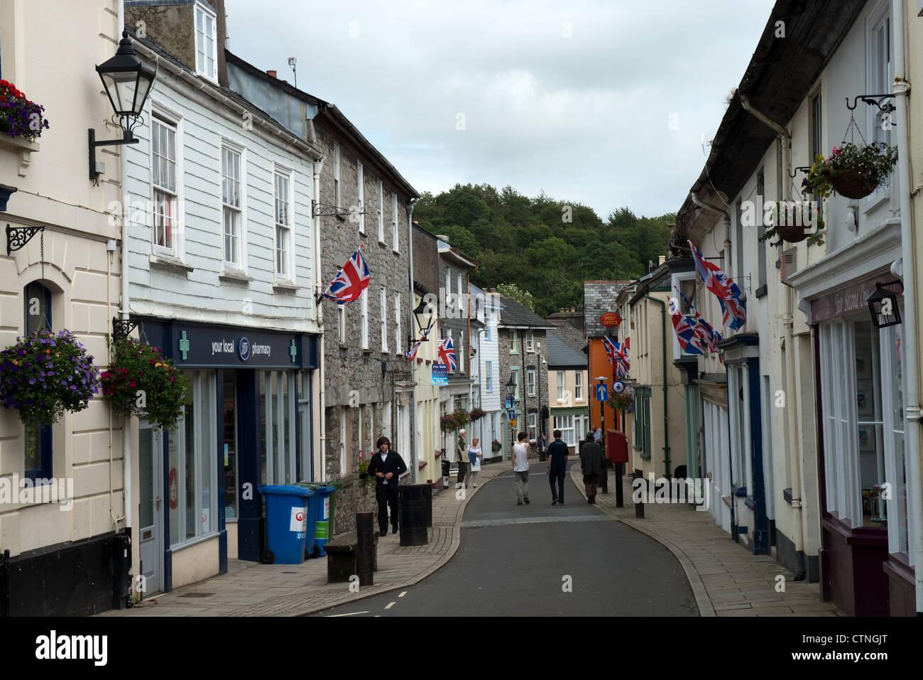 Fore Street Buckfastleigh, Devon -2 - Stock Image