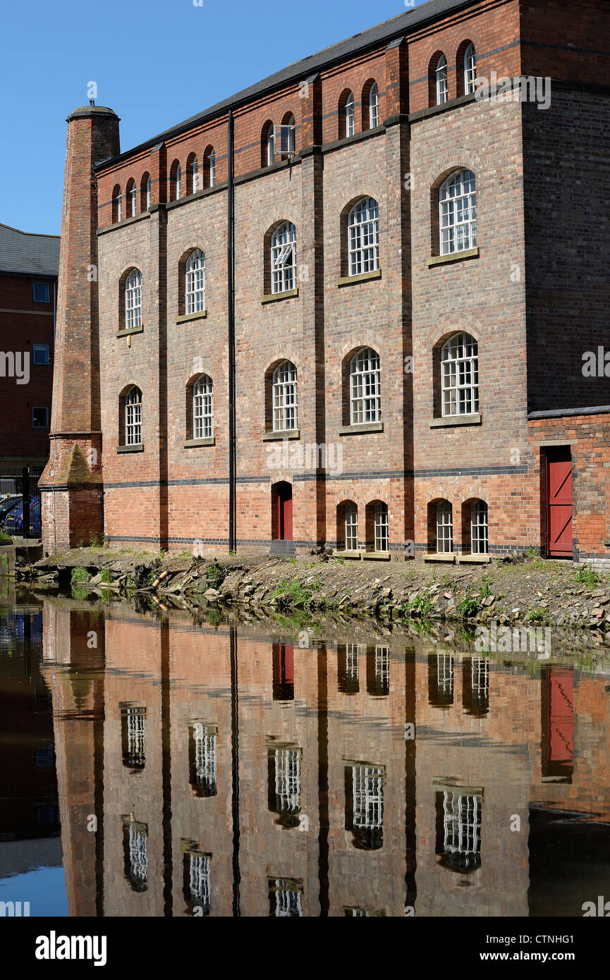 industrial canal buildings nottingham england uk - Stock Image