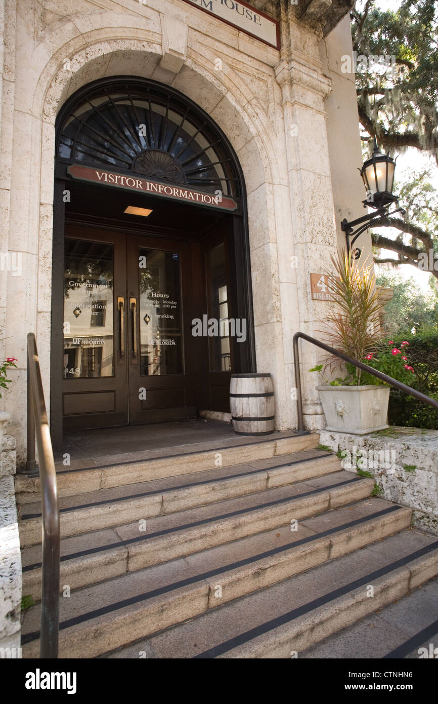 Visitor Information Center at the Government House Museum of History and Archaeology in St. Augustine Florida - Stock Image