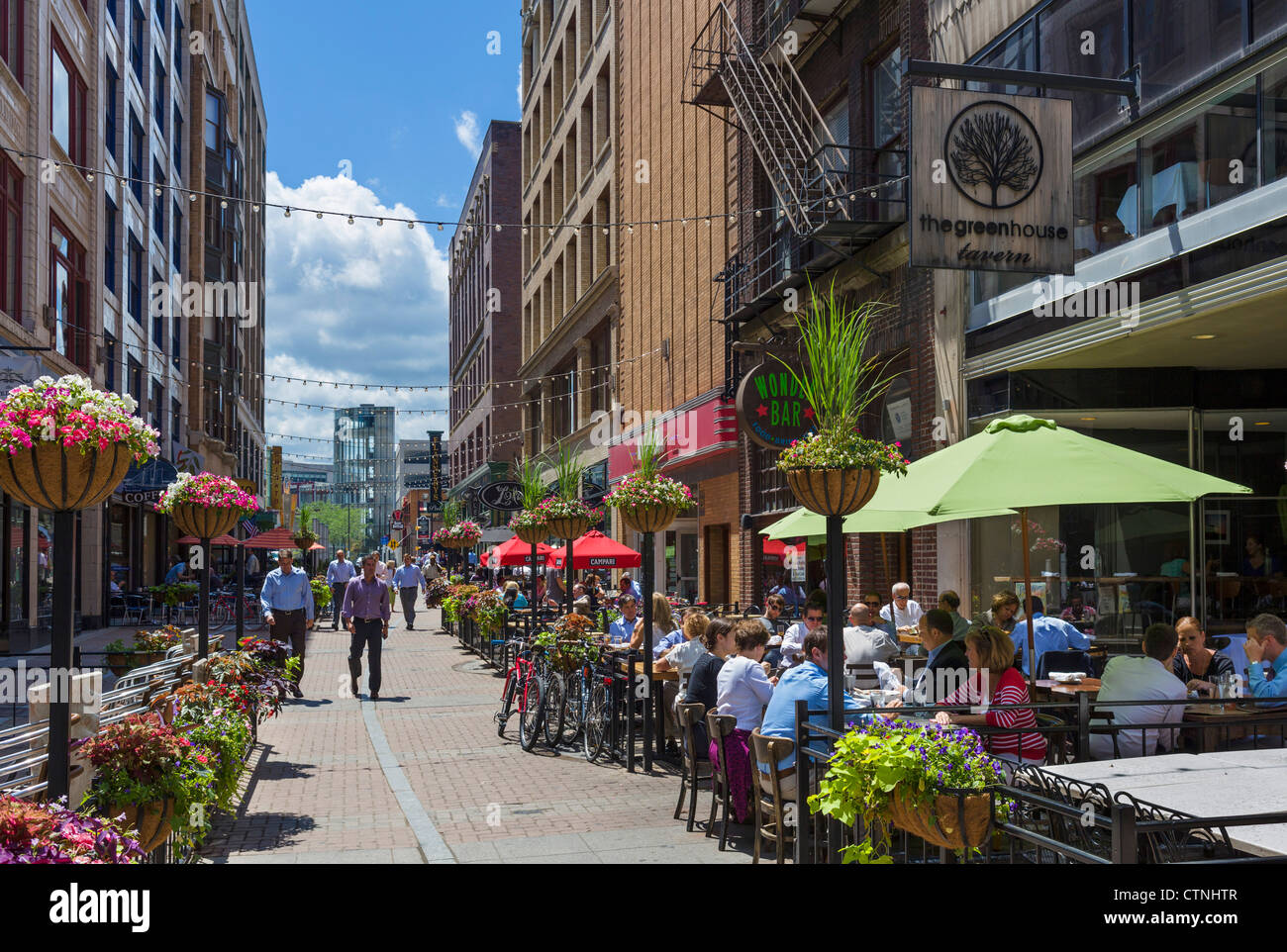 Office Workers Eating Lunch In Restaurants On East 4th