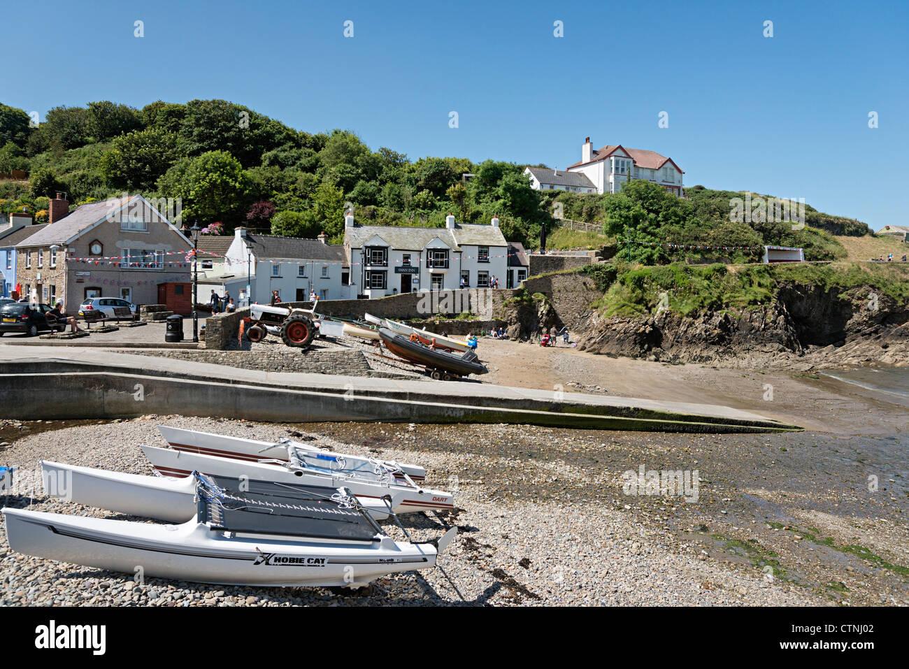 Little Haven beach Pembrokeshire Wales - Stock Image