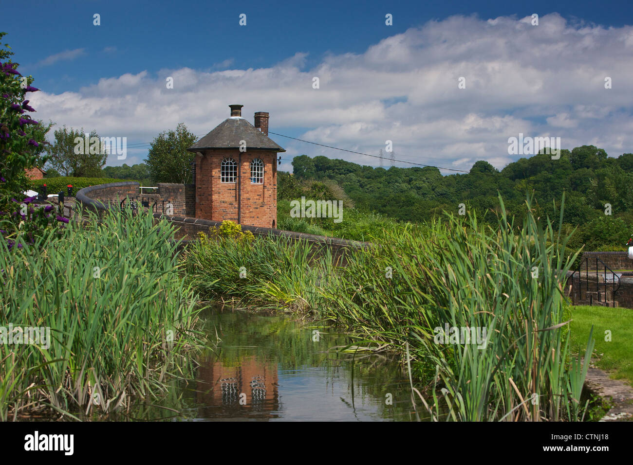 Bratch Locks Toll House Wombourne South Staffordshire England UK - Stock Image