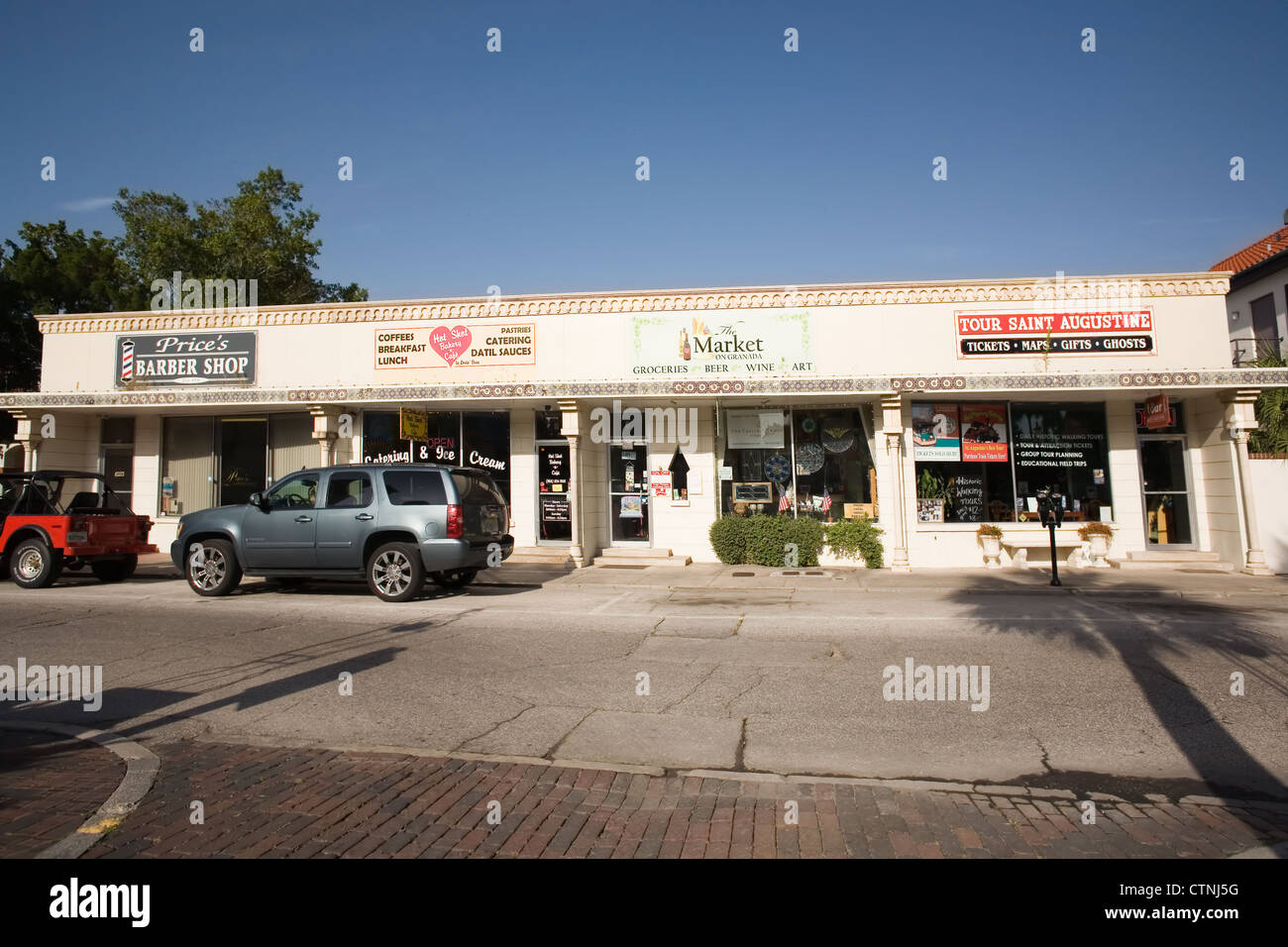 Strip Mall in St. Augustine Florida - Stock Image