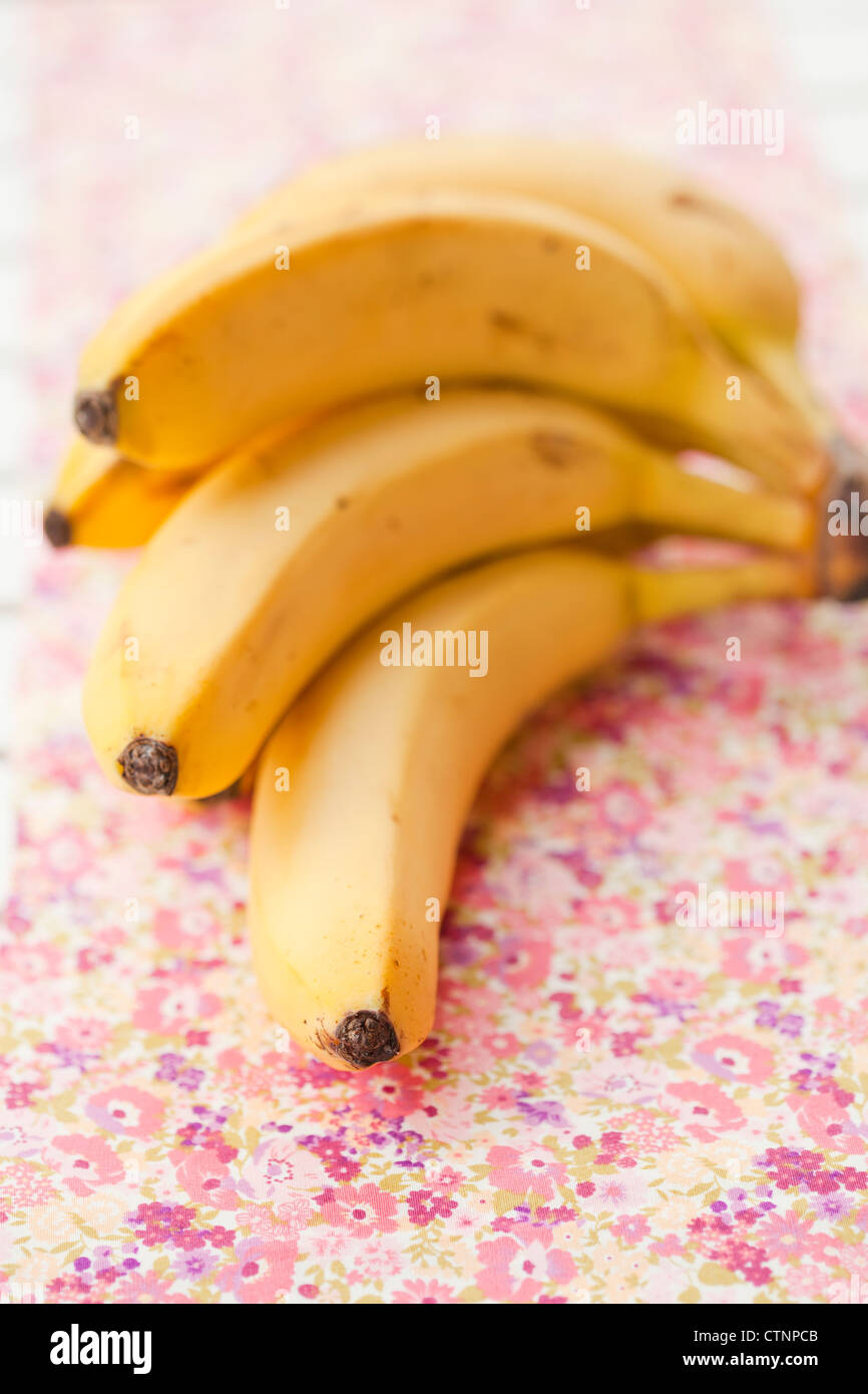 Close-up of a bunch of bananas. Shallow depth of field. - Stock Image