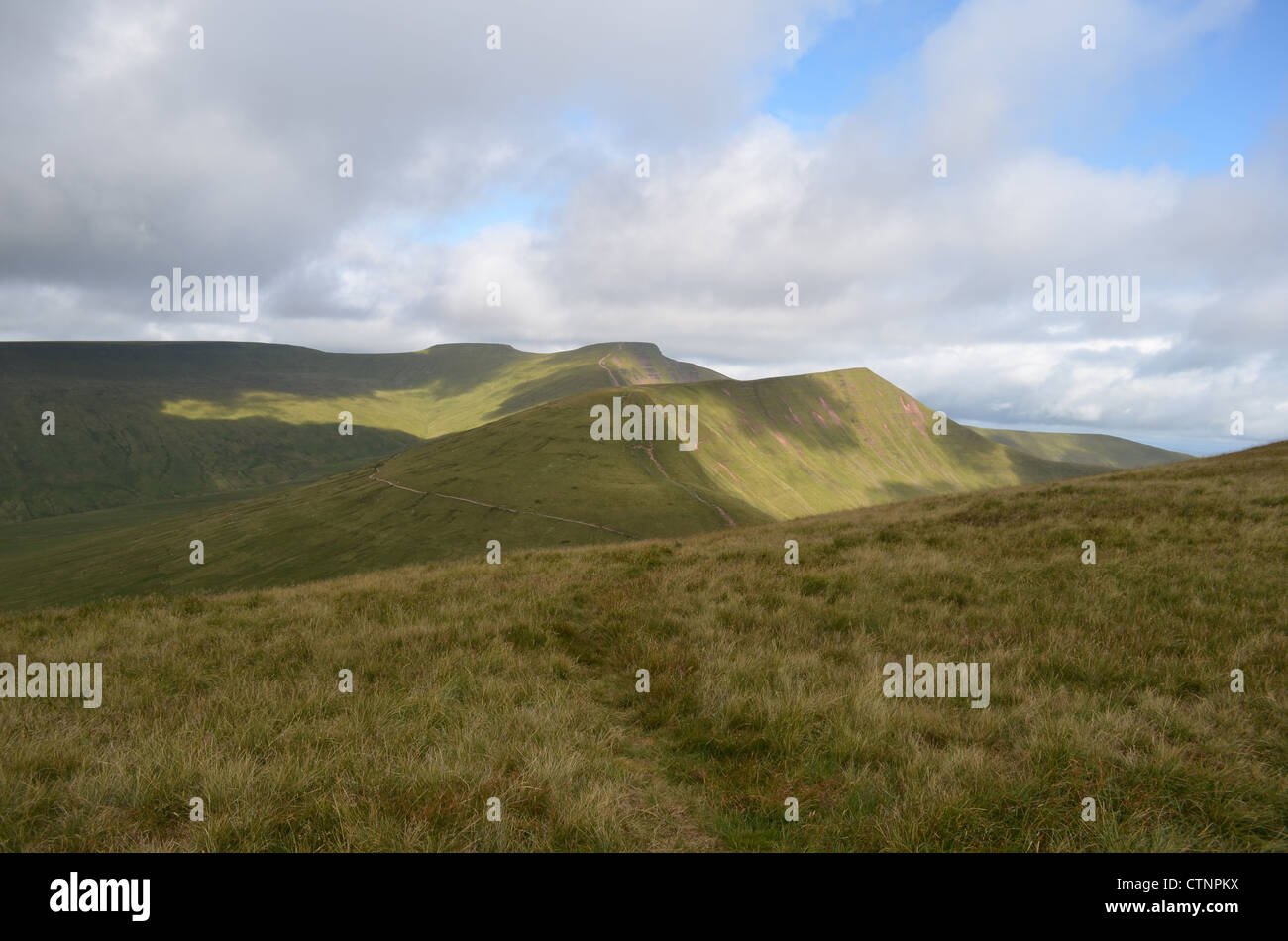 corn du and pen y fan and cribyn number 3202 - Stock Image