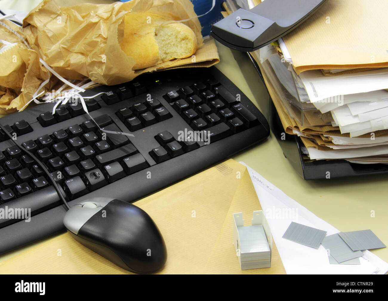 A mess in the office. - Stock Image