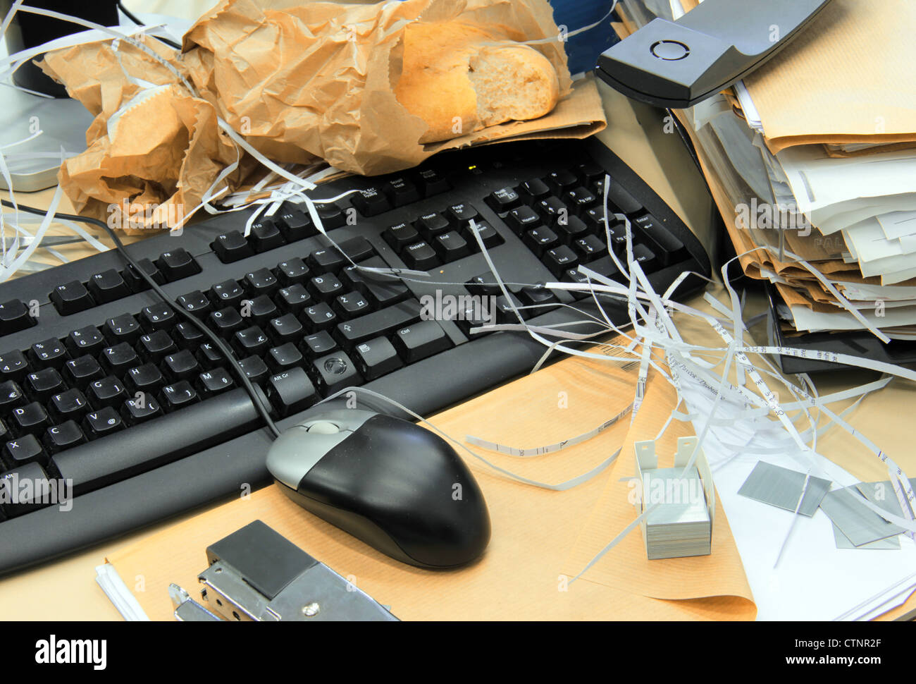 Mess in the office. - Stock Image