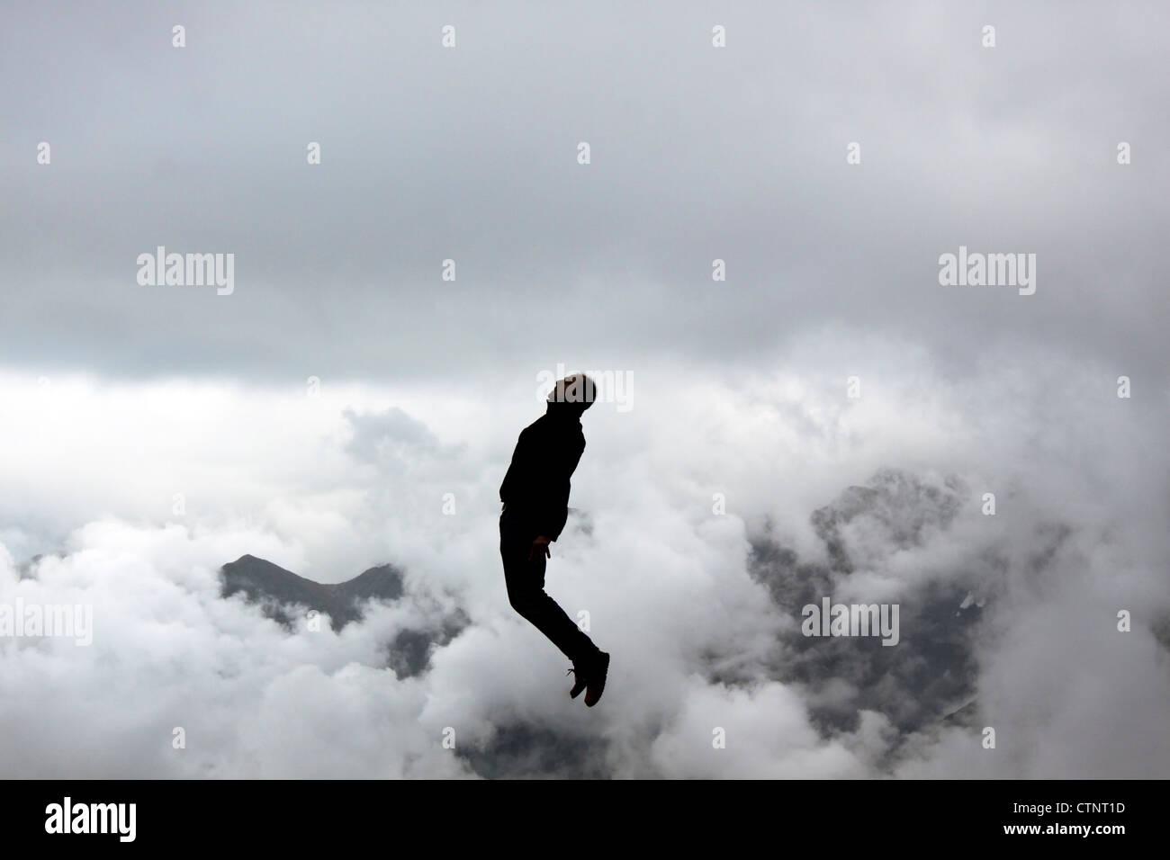 frozen jump - Stock Image