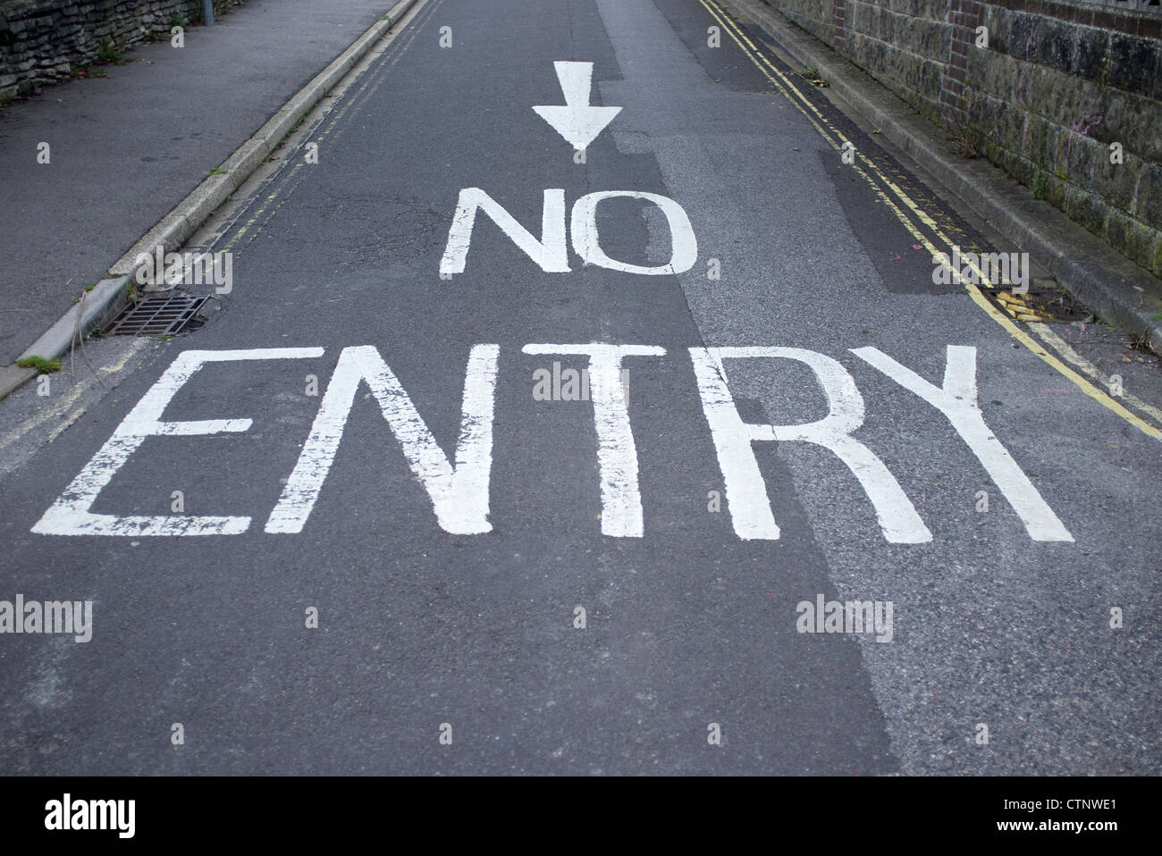 no entry road - Stock Image