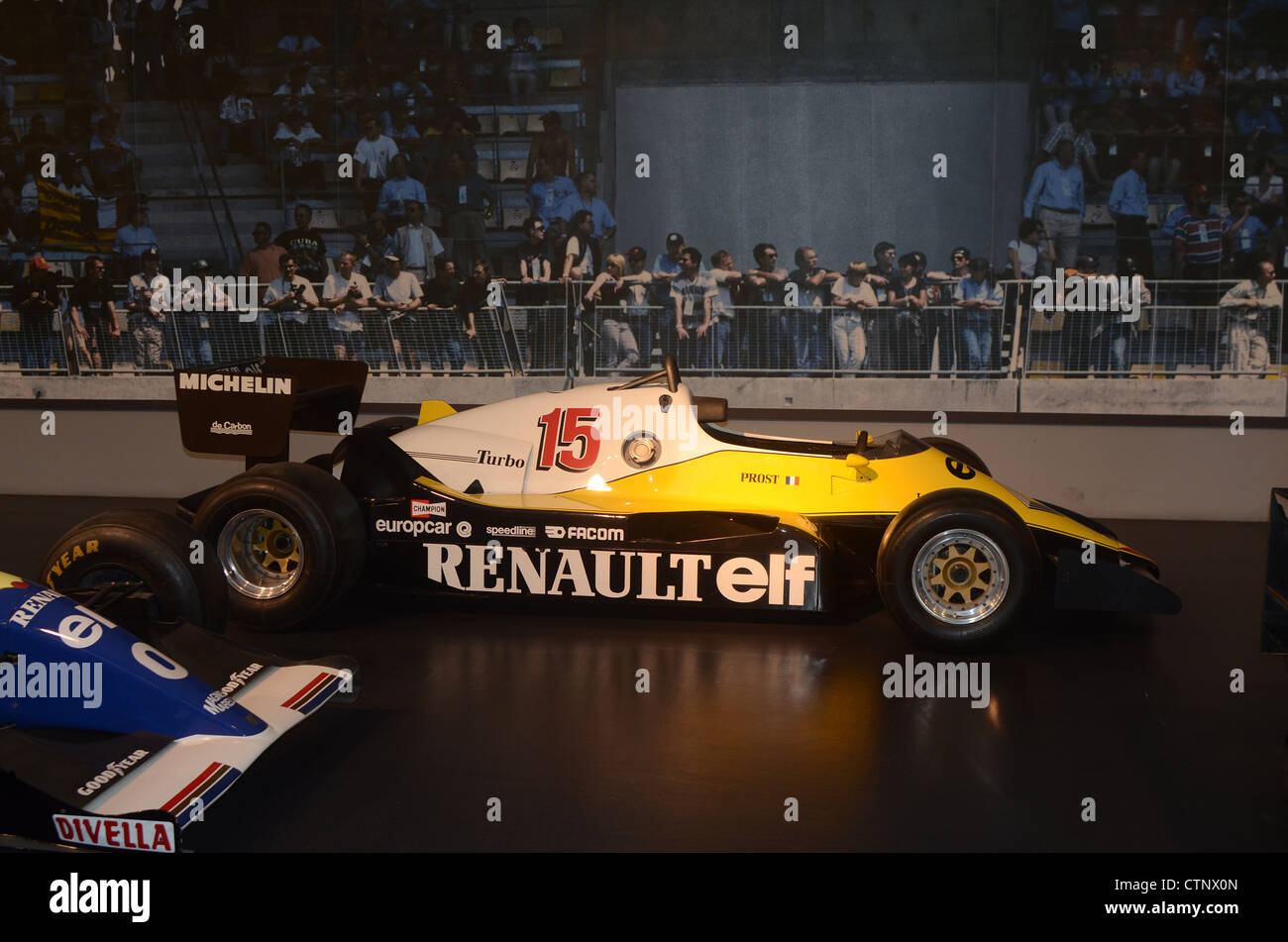 Formula 1 car in the Cite l'Automobile  (city of cars) ,Mulhouse, France - Stock Image