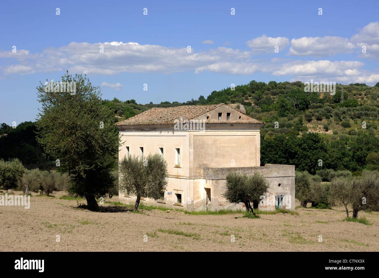 italy, basilicata, rural house - Stock Image