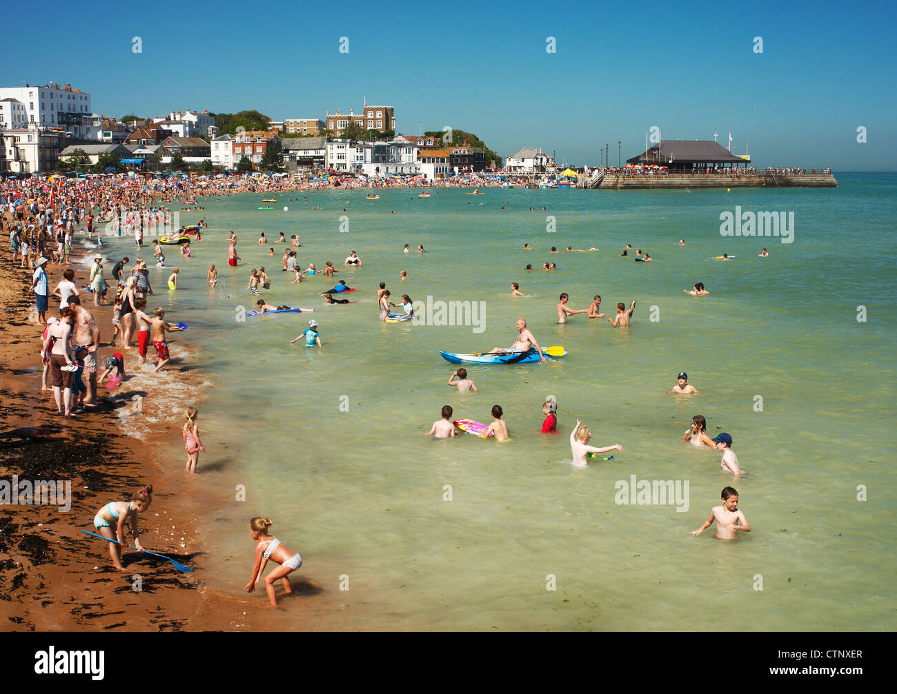 Broadstairs seaside resort. - Stock Image