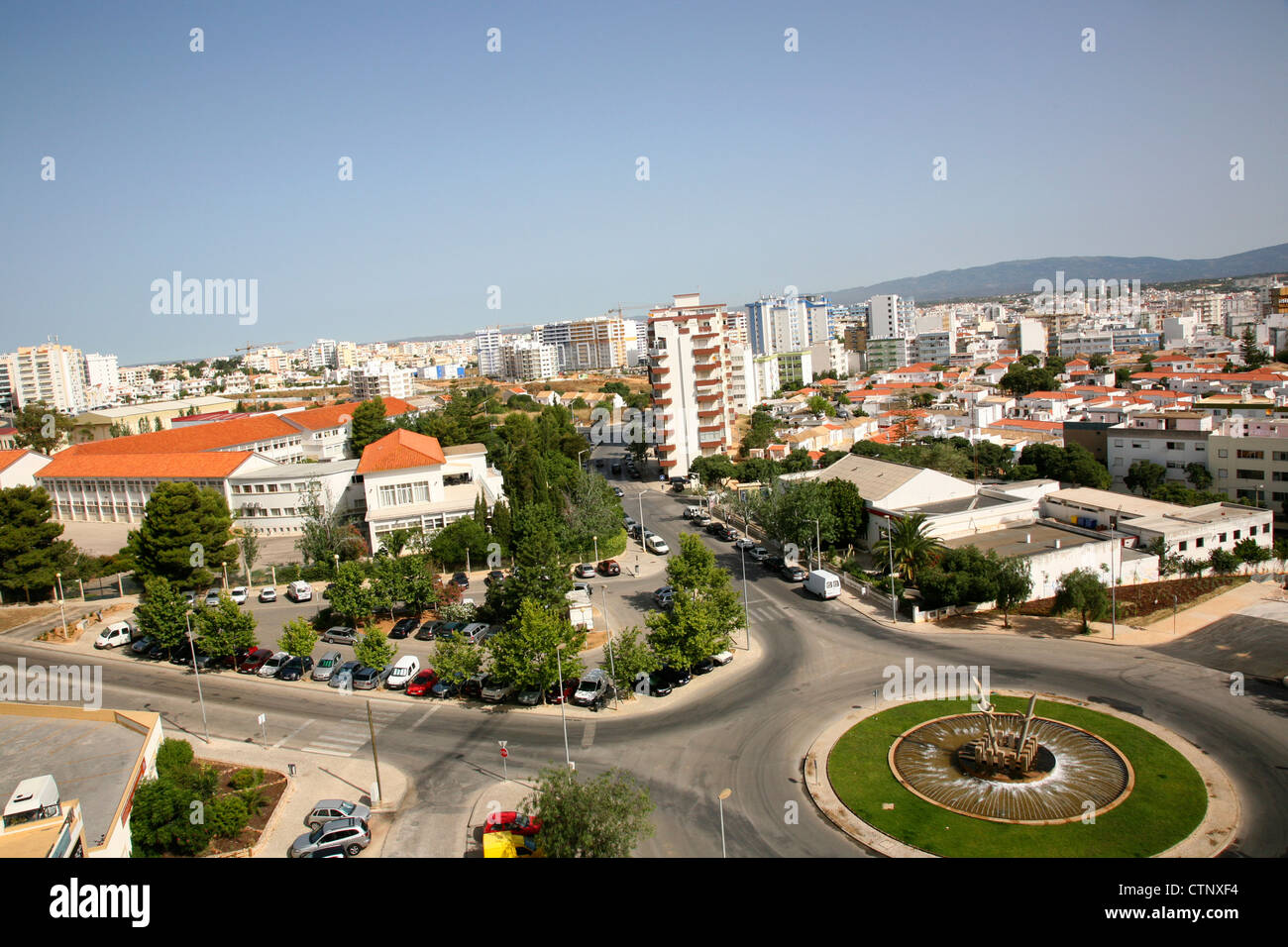 Portimao Buildings in town - Stock Image