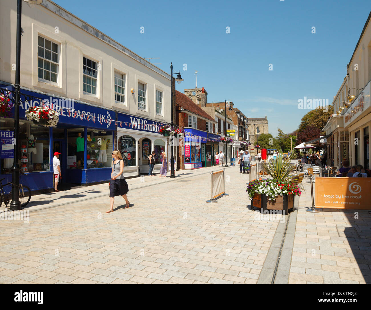 East Street, Shoreham by sea. - Stock Image