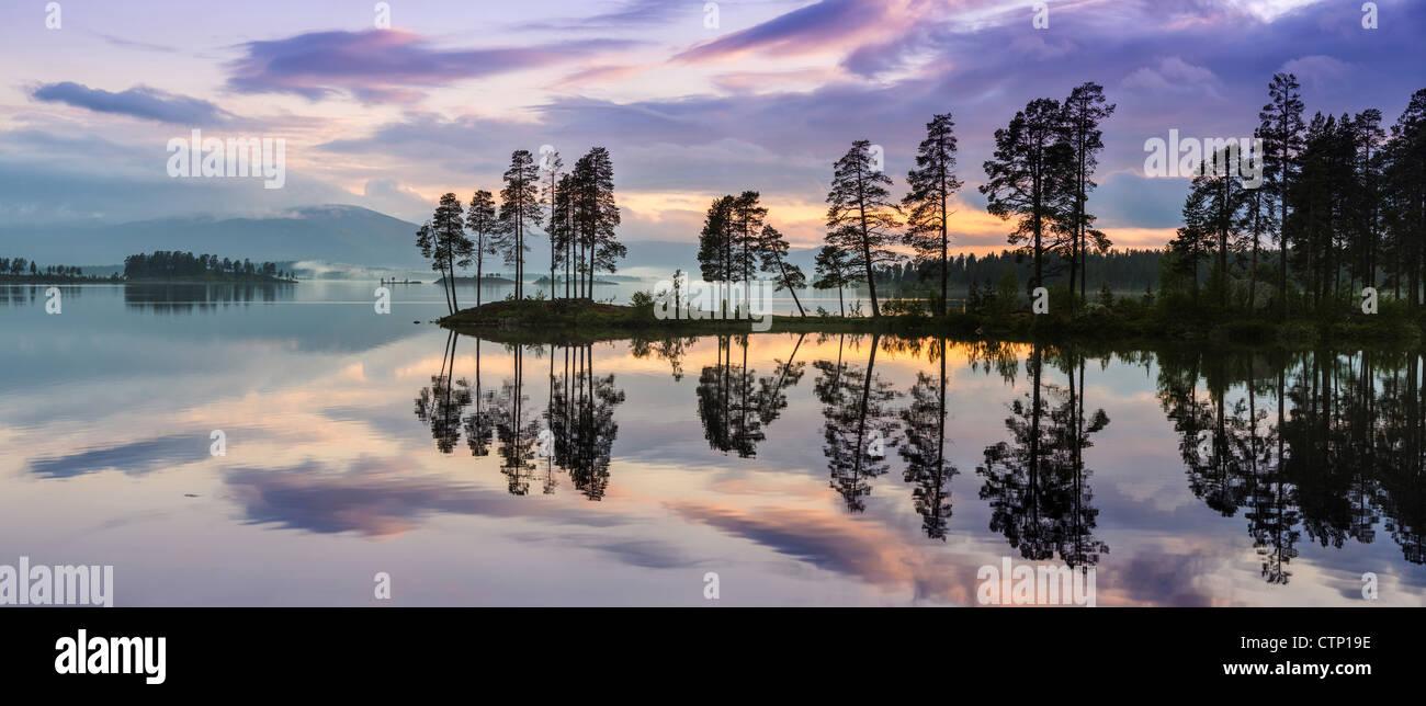 Laplandia landscape, northern sweden - Stock Image