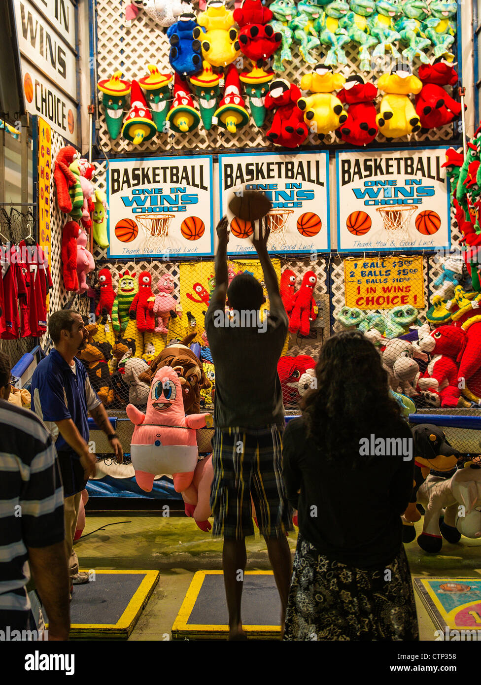 Basketball shoot, Atlantic City, New Jersey, USA - Stock Image