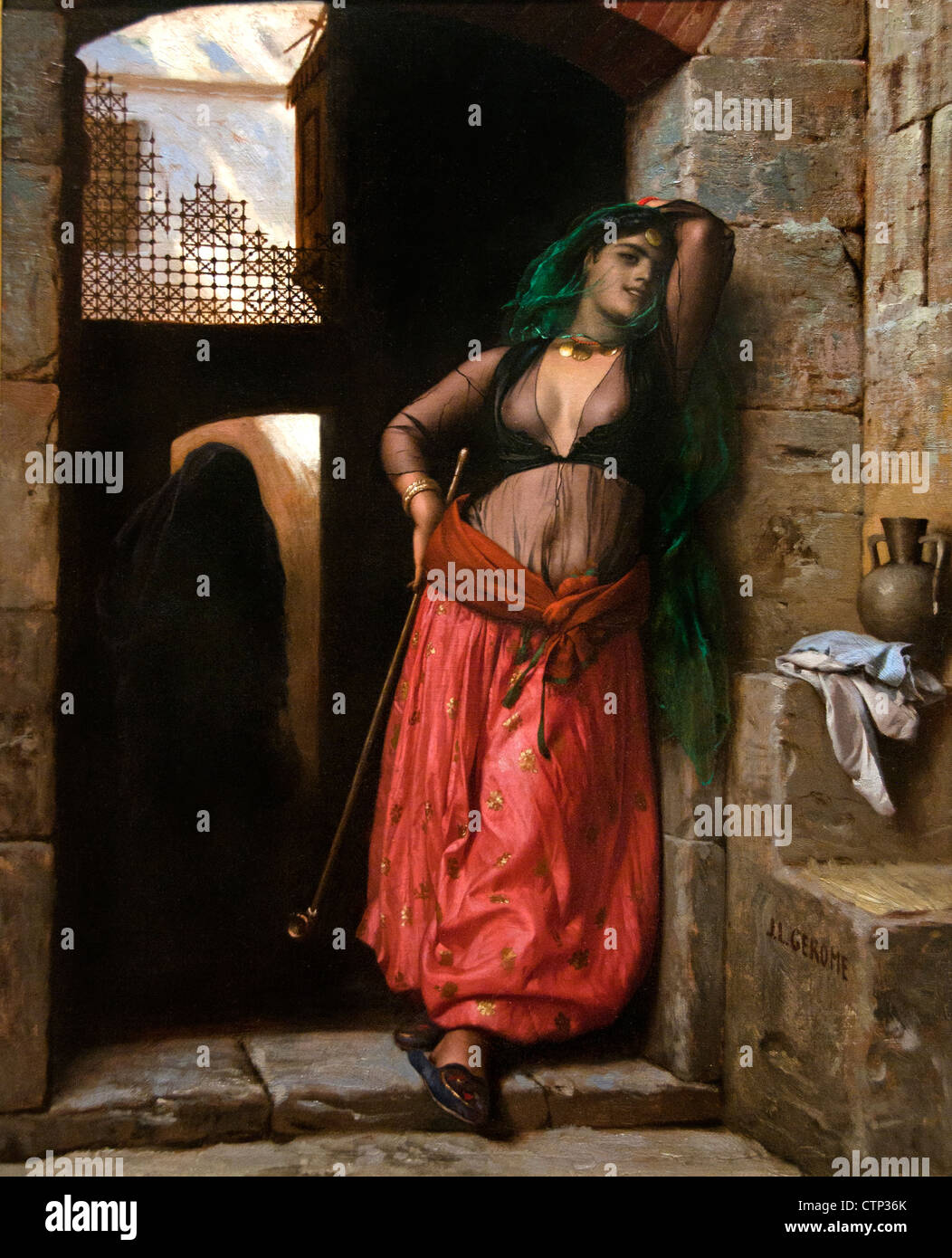 The Almeh 1873 Jean Leon Gerome France French - Stock Image