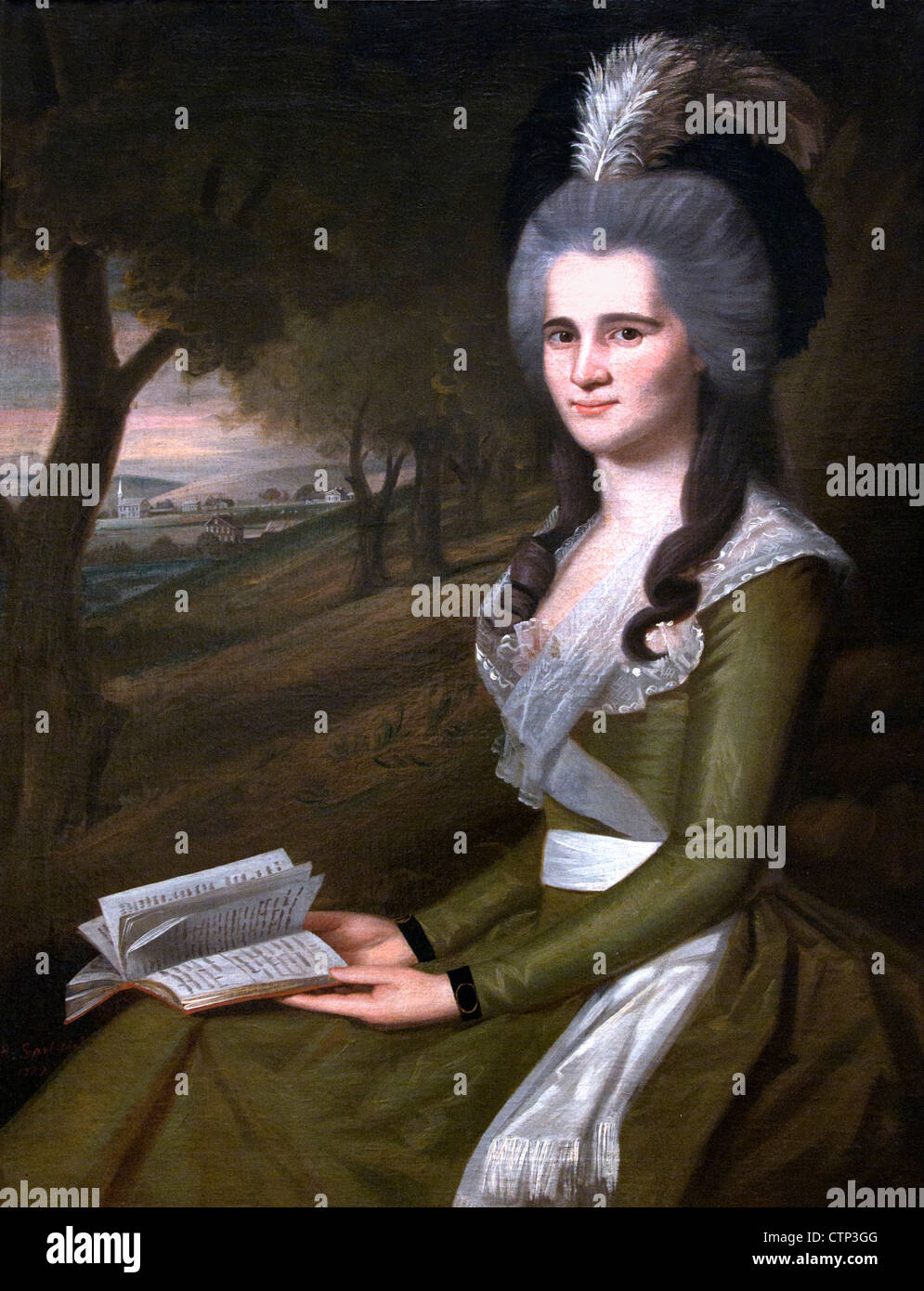Esther Boardman 1789 Ralph Earl American United States of America - Stock Image